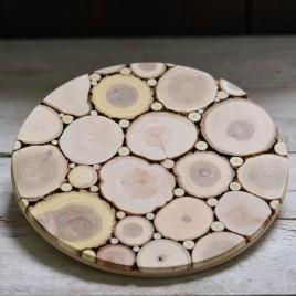 Mosaic round trivet