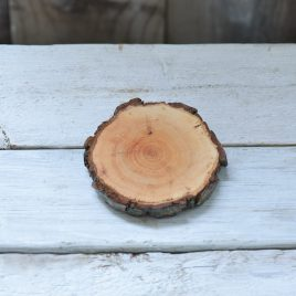 Alder wood bark coaster