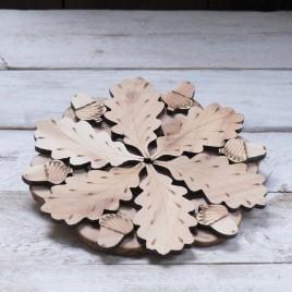 Oak leaf and acorn heat stand