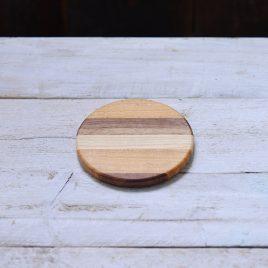 Natural colour wooden coaster
